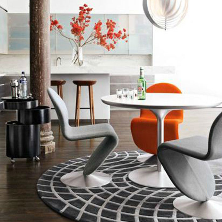 Dining Room With Iconic 1960s Table
