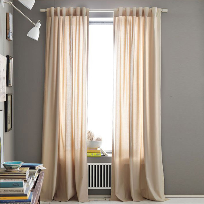 Opaque Cotton Canvas Curtains